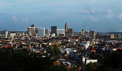 September 3, 2017 - Cincinnati, Ohio, U.S - The downtown area of Cincinnati,Ohio on Sep 4, 2017. As seen from Clifton,Ohio. (Credit Image: © Ernest Coleman via ZUMA Wire)