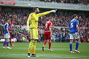 Ipswich Town goalkeeper Bartosz Bialkowski (33)  during the Sky Bet Championship match between Middlesbrough and Ipswich Town at the Riverside Stadium, Middlesbrough, England on 23 April 2016. Photo by Simon Davies.