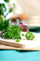 Parsley on desk - studio shot