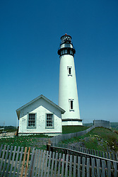 CA: Pigeon Point, California, lighthouse 2005 .Image: capigeon102..Photo Copyright: Lee Foster, lee@fostertravel.com, www.fostertravel.com, (510) 549-2202.