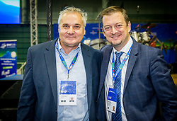 Dr. Boro Strumbelj, general directorat of Slovenia and Andrew Parsons, president of International Paralympic Committee during opening ceremony of SPINT Slovenia Open Thermana Laško 2018 - The 2018 World Para Table Tennis Championships, on October 16, in Arena Pri Lilije, Lasko, Slovenia. Photo by Vid Ponikvar / Sportida