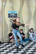 hiphop danswedstrijd tijdens Noorderparkfestival Amsterdam