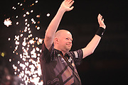 Raymond van Barneveld, 2014 Premier League champion & five-time World Champion  during the Unibet Premier League Darts Night 13 competition at the Manchester Arena, Manchester, United Kingdom on 26 April 2018. Picture by Mark Pollitt.