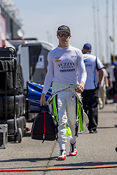 April 21, 2018 - Birmingham, Alabama, United States of America - SPENCER PIGOT (21) of the United State waits for a practice session for the Honda Indy Grand Prix of Alabama at Barber Motorsports Park in Birmingham Alabama. (Credit Image: © Walter G Arce Sr Asp Inc/ASP via ZUMA Wire)