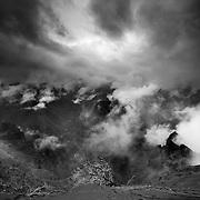 black and white photography, fine art landscape photography, hawaii, waimea canyon, Kauai