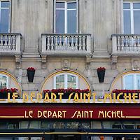 Le Départ Saint Michel restaurant in Paris, France, in April, 2015.