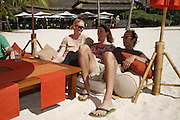 Tilda Swinton, Joanna Briscoe and Ben Markowits, Preparing for the Le Prince Maurice Prize. Mauritius. 26 May 2006. ONE TIME USE ONLY - DO NOT ARCHIVE  © Copyright Photograph by Dafydd Jones 66 Stockwell Park Rd. London SW9 0DA Tel 020 7733 0108 www.dafjones.com