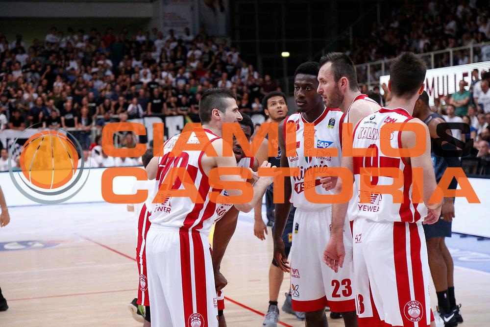 Olimpia EA7 Emporio Armani Milano<br /> Dolomiti Energia Aquila Basket Trento - EA7 Emporio Armani Olimpia Milano<br /> Semifinale Gara 4, Lega Basket Serie A 2016/2017<br /> PalaTrento 31/05/2017<br /> Foto Ciamillo-Castoria / M.Brondi