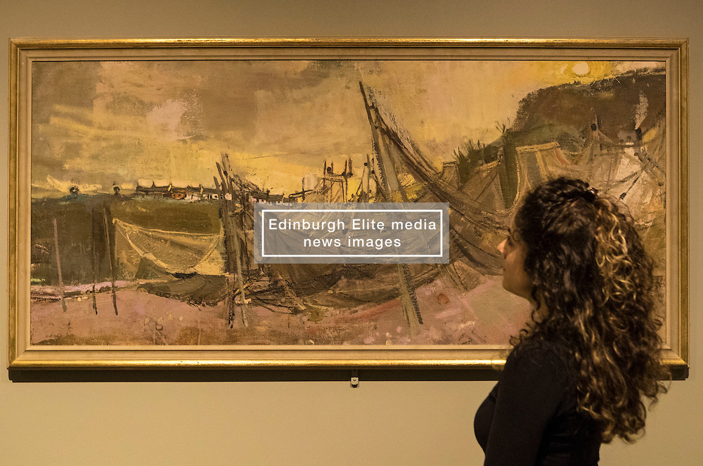 A new exhibition at the Scottish National Gallery of Modern Art gives an opportunity to trace the life and work of one of Scotland's most admired artists, Joan Eardley. <br /> <br /> Joan Eardley: A sense of place charts through unpublished archival material and loans from private collections the unique working methods of the artist Joan Eardley.<br /> <br /> Pictured: Drying Salmon Nets 1956