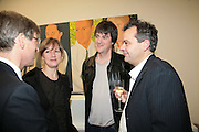TIM TAYLOR, FIONA RAE, DAN PERFECT AND MARK HIX, Alex Katz 'One Flight Up' at the new Timothy Taylor Gallery , 15 Carlos Place. London. 11 October 2007. -DO NOT ARCHIVE-© Copyright Photograph by Dafydd Jones. 248 Clapham Rd. London SW9 0PZ. Tel 0207 820 0771. www.dafjones.com.