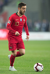 October 11, 2018 - Chorzow, Poland - Bernardo Silva (POR) during the UEFA Nations League A group three match between Poland and Portugal at Silesian Stadium on October 11, 2018 in Chorzow, Poland. (Credit Image: © Foto Olimpik/NurPhoto via ZUMA Press)