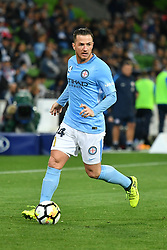 October 6, 2017 - Melbourne, Victoria, Australia - ROSS MCCORMACK (44) of Melbourne City runs with the ball in the round one match of the A-League between Melbourne City and Brisbane Roar at AAMI Park, Melbourne, Australia. Melbourne won 2-0 (Credit Image: © Sydney Low via ZUMA Wire)