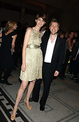 Model STELLA TENNANT and designer CHRISTOPHER BAILEY at the 2005 British Fashion Awards were held at The V&A museum, London on 10th November 2005.<br />