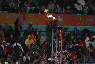 Fire from the light tower during match 11 of the Airtel CLT20 between The South Australian Redbacks and The Royal Challengers Bangalore held at Kingsmead Stadium in Durban on the 17 September 2010..Photo by: Steve Haag/SPORTZPICS/CLT20.