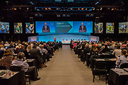Jeremy Corbyn, Labour Leader, speaks to the congress - the 2017 TUC annual Congress at the Brighton Centre.
