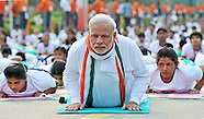Indian PM Modi Participates In Yoga On Yoga Day