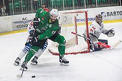Koren Gal of HK SZ Olimpija during ice hockey match between HK SZ Olimpija and HDD Sij Acroni Jesenice in 1. Round of Playoff  in Alps Hockey League 2019/20, on February 13, 2020, in Hala Tivoli, Ljubljana, Slovenia. Photo By Grega Valancic / Sportida