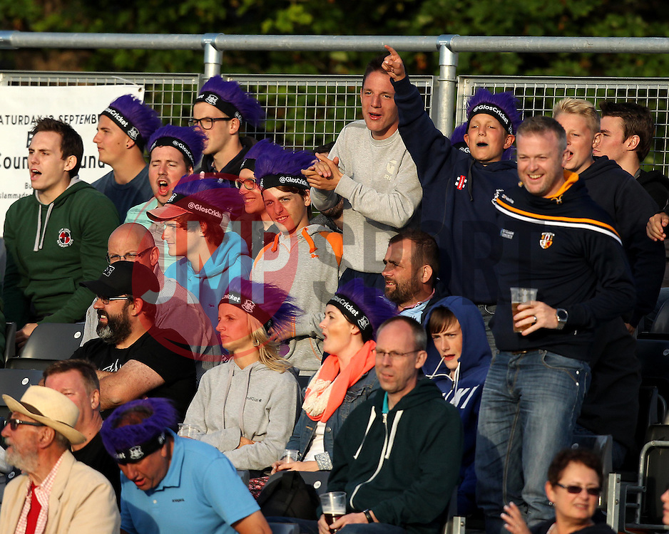 Fans watch the Natwest T20 Blast fixture between Gloucestershire and Sussex - Photo mandatory by-line: Robbie Stephenson/JMP - Mobile: 07966 386802 - 26/06/2015 - SPORT - Cricket - Bristol - The County Ground - Gloucestershire v Sussex - Natwest T20 Blast