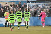 Barrow equalise during the Vanarama National League match between Barrow and Forest Green Rovers at Holker Street, Barrow, United Kingdom on 28 January 2017. Photo by Mark Pollitt.