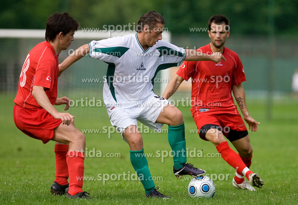 Agim Ibraimi of Olimpija  during preseason friendly football match between NK Olimpija and SPINS selection, on June 30, 2009, in Menges, Slovenia. SPINS won 3:2.(Photo by Vid Ponikvar / Sportida)