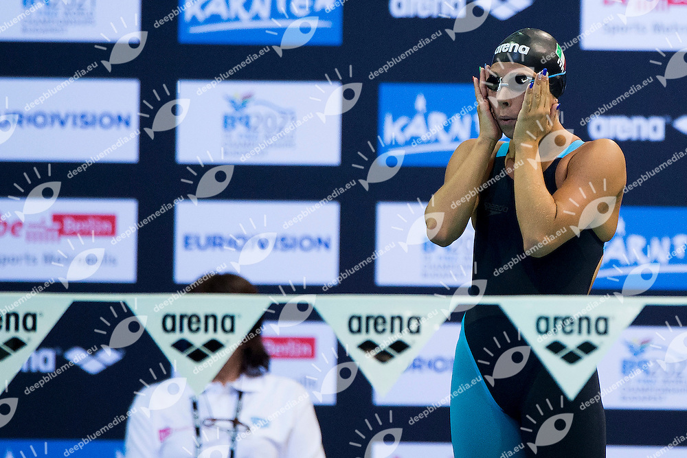 Stefania Pirozzi Italy ITA<br /> 400 Medley Women Heat<br /> 32nd LEN European Championships <br /> Berlin, Germany 2014  Aug.13 th - Aug. 24 th<br /> Day06 - Aug. 18<br /> Photo A.Masini/Deepbluemedia/Inside