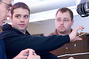 08-18577..College of Engineering Classroom shots..Dusan Sormaz, Dane Turk, and Daniel Folz(brown)