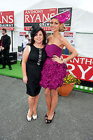 Patrician McCrossan Galway Now and Rosanna Davison judges in  the Anthony Ryan's Best Dressed ladies day at the Galway . Photo:Andrew Downes.Photo issued with Compliments, No reproduction fee on first use