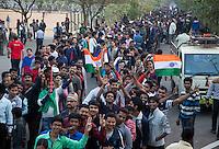 BHUBANESWAR (India) -  Hero Champions Trophy hockey men. Semifinal India vs Pakistan. Public in long rows . Photo Koen Suyk