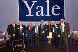 2015 Award Recipients Group Photograph. Yale Athletics Blue Leadership Ball & George H.W. Bush '48 Lifetime of Leadership Awards. 20 November 2015 at the William K. Lanman Center, Payne Whitney Gymnasium, Yale University.
