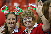 Welsh rugby fans during the Rugby World Cup Pool A match between Wales and Fiji at Millenium Stadium, Cardiff, Wales on 1 October 2015. Photo by Shane Healey.