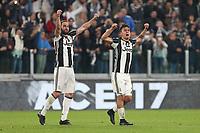 10.03.2017 - Torino - Serie A 2016/17 - 28a giornata  -  Juventus-Milan nella  foto: Paulo Dybala e Gonzalo Higuain esultano dopo il gol del 2 a 1