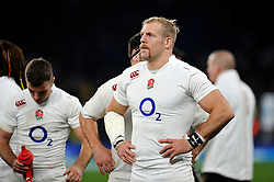 James Haskell of England looks on after the match - Photo mandatory by-line: Patrick Khachfe/JMP - Mobile: 07966 386802 29/11/2014 - SPORT - RUGBY UNION - London - Twickenham Stadium - England v Australia - QBE Internationals