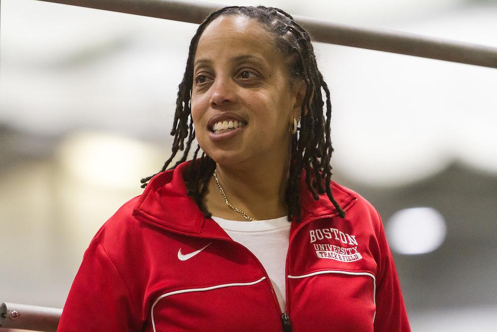 Boston University Multi-team indoor track & field, BU coach  Robyne Johnson