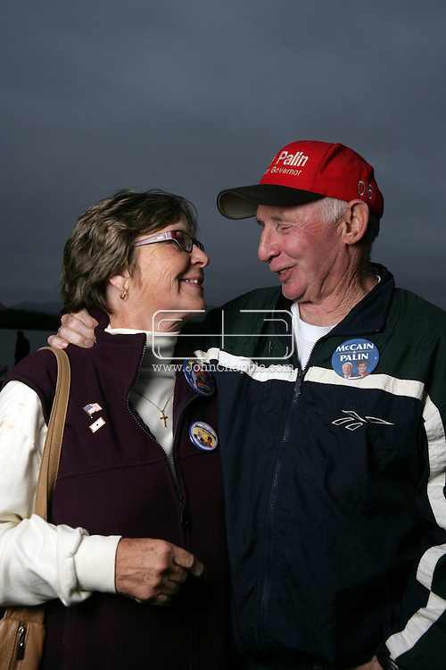 12th September 2008, Wasilla, Alaska. Sally and Charles 'Chuck' Heath, the parents of the Alaskan Governor, Sarah Palin. Palin is the US Republican Vice Presidential pick. PHOTO © JOHN CHAPPLE / REBEL IMAGES.tel: +1-310-570-910