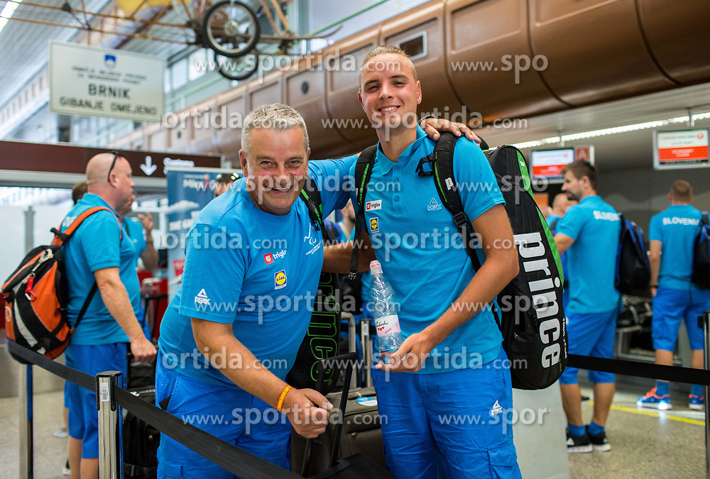 Darko Kegl and Marino Kegl of Slovenian deaf team before departure to 23rd Summer Deaflympics in Samsun, Turkey, on July 14, 2017 at Airport Joze Pucnik, Brnik, Slovenia. Photo by Vid Ponikvar / Sportida