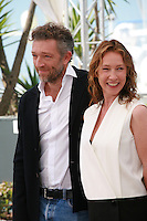 Actor Vincent Cassel and actress Emmanuelle Bercot Mon Roi film photo call at the 68th Cannes Film Festival Sunday May 17th 2015, Cannes, France.