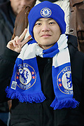Chelsea fan, during the EFL Cup semi final second leg match between Chelsea and Tottenham Hotspur at Stamford Bridge, London, England on 24 January 2019.
