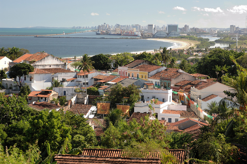 View from Olinda to Recife,Province of Pernambuco, Northeast, Brazil, South America