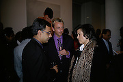 Rajit Dutta and Bianca Jagger,, Other,Riyas Komu and Peter Drake. - VIP  launch of Aicon. London's largest contemporary Indian art gallery. Heddon st. and afterwards ant Momo.15 Marc h 2007.  -DO NOT ARCHIVE-© Copyright Photograph by Dafydd Jones. 248 Clapham Rd. London SW9 0PZ. Tel 0207 820 0771. www.dafjones.com.