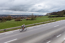 Another breakaway attempt, this time by Jessy Druyts - Dwars door Vlaanderen 2016, a 103km road race from Tielt to Waregem, on March 23rd, 2016 in Flanders, Netherlands.