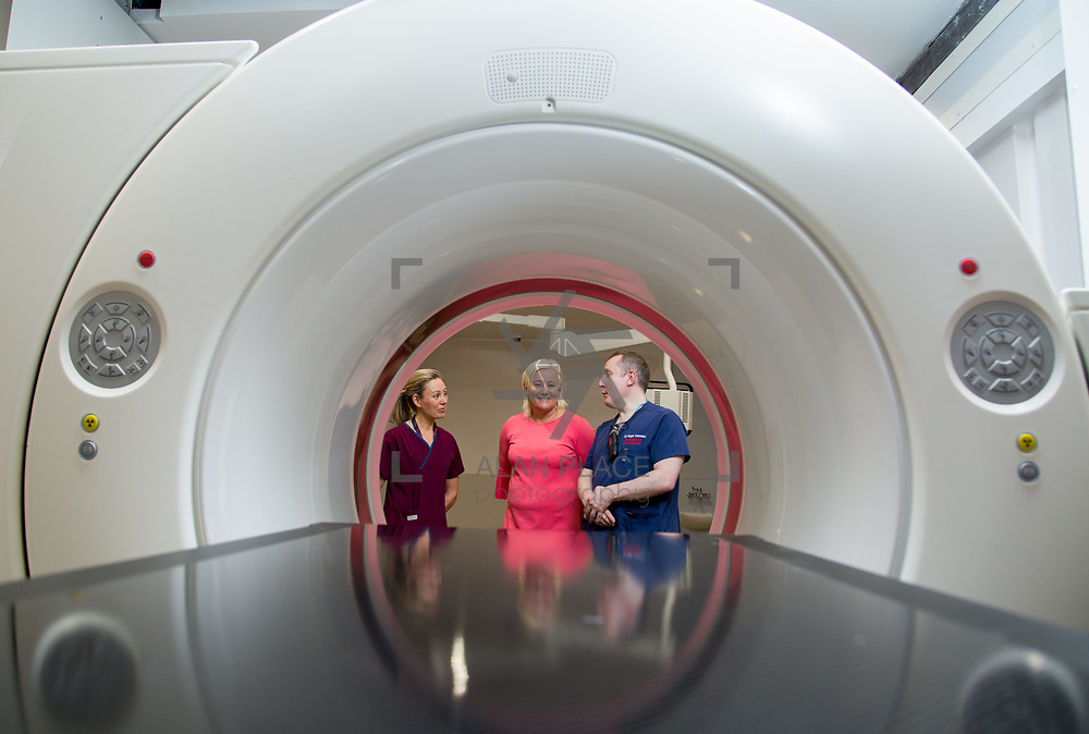 29.05. 2017.                                             <br /> IRELAND&rsquo;S largest and most advanced Emergency Department has opened this Monday at University Hospital Limerick.<br /> <br /> Pictured at the new CT Scanner in the Emergency Department were, Nuala Lynch, Radiation Safety Officer (RSO), UHL CEO Colette Cowan and Dr. Fergal Cummins, Consultant in Emergency Medicine.<br /> <br /> <br /> <br /> A &euro;24 million project (development and equipment costs), the ED spans 3,850 square metres of floor space, over three times the size of the old department. In 2016, UHL had the busiest ED in the country, with over 64,000 attendances. Picture: Alan Place