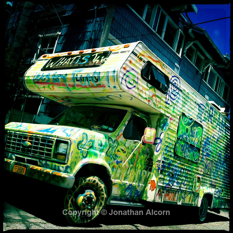 May 19, 2011  RV covered every inch by painted art.©Jonathan Alcorn 2011