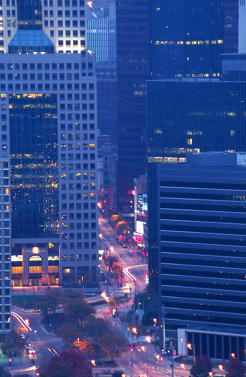 Pittsburgh, PA, skyline, Night Lights, Downtown Hi-Rises