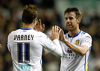 Football -Capitol One Cup-Leeds United  vs. Southampton- Leeds' Michael Tonge celebrates the first goal at Elland Road.