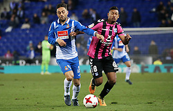 November 30, 2017 - Barcelona, Catalonia, Spain - Bryan Acosta and Sergio Garcia during the Copa del Rey match between RCD Espanyol and CD Tenerife,i n Barcelona, on November 30, 2017. (Credit Image: © Joan Valls/NurPhoto via ZUMA Press)