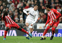 Real Madrid's Cristiano Ronaldo in duel during La Liga match, November 05, 2009.
