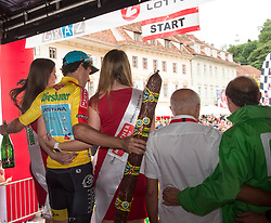 02.07.2017, Graz, AUT, Ö-Tour, Österreich Radrundfahrt 2017, 1. Etappe, Prolog, im Bild Oscar Gatto (ITA, Astana Pro Team) // Oscar Gatto (ITA, Astana Pro Team) during Stage 1, Prolog of 2017 Tour of Austria. Graz, Austria on 2017/07/02. EXPA Pictures © 2017, PhotoCredit: EXPA/ Reinhard Eisenbauer