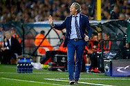 26-08-2015 VOETBAL:CLUB BRUGGE-MANCHESTER UNITED:BRUGGE<br /> Champions League 2015-2016<br /> <br /> Trainer/Coach Michel PreudHomme van Club Brugge <br /> <br /> Foto: Geert van Erven