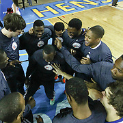 Delaware 87ers players celebrates prior to a NBA D-league regular season basketball game between the Delaware 87ers (76ers) and the Austin Toros (Spurs) Monday, Jan. 27, 2014 at The Bob Carpenter Sports Convocation Center, Newark, DE