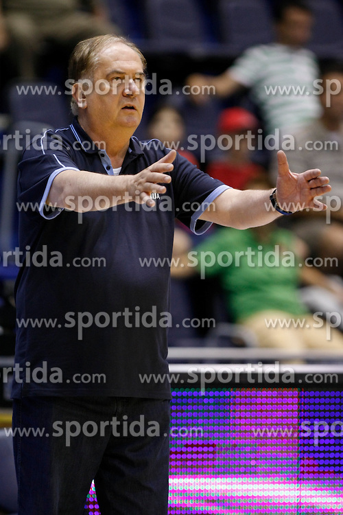 Bozidar Maljkovic head coach of Slovenia basketball national team during Trofej Beograd tournament third place match against Hungary at Pionir arena  in Belgrade, Serbia on August 9th 2012.Foto: Marko Metlas / MN Press